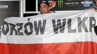 Bartosz Zmarzlik na podium w niemieckim Teterow 2016