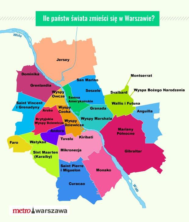 Ile miast zmieści się w Warszawie