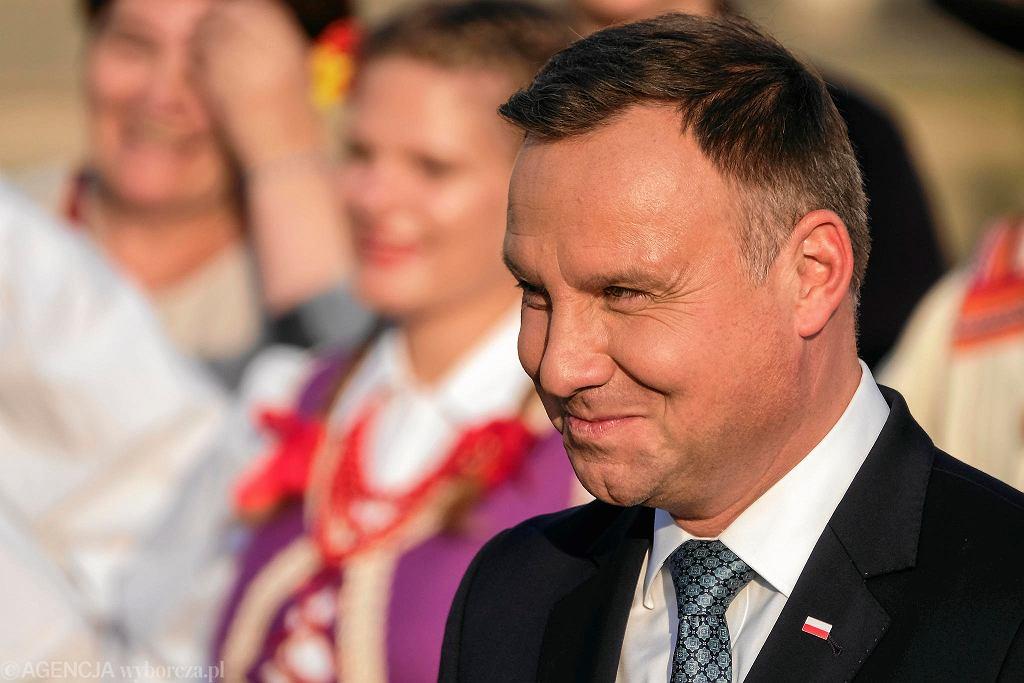 Leżajsk, Muzeum Ziemi Leżajskiej. Spotkanie Prezydenta RP Andrzeja Dudy z mieszkańcami