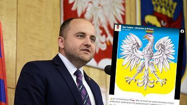 Na zdjęciu: radny Dariusz Matecki, którego fundacja skierowała zawiadomienie ws. przerobionego godła Polski
