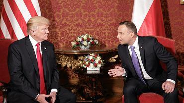 Prezydent USA Donald Trump z wizyta w Polsce. Warszawa, 6 lipca 2017