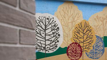 Mural w duchu skandynawskim