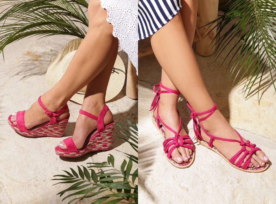 Sandały w kolorze fuksji
