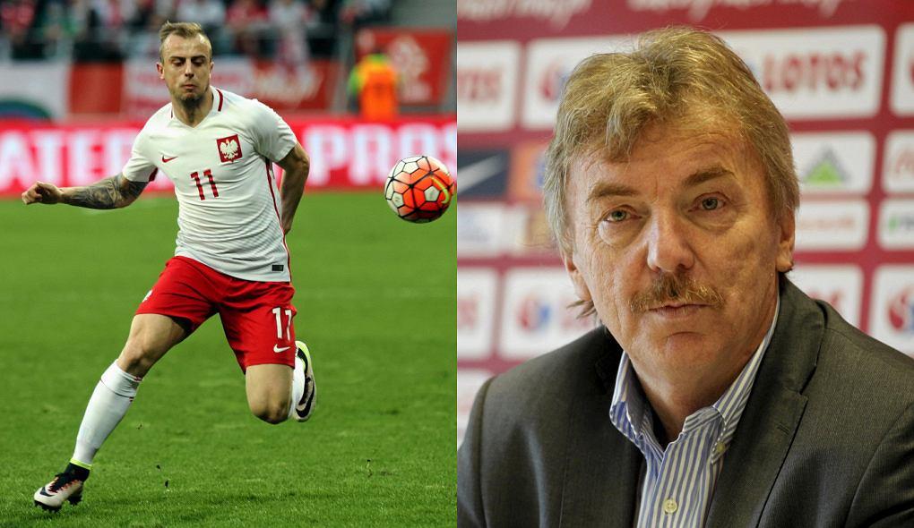 Kamil Grosicki i Zbigniew Boniek
