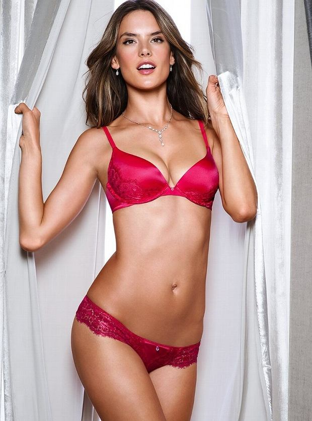 Brazilian supermodel Alessandra Ambrosio photoshoot for Victorias Secret lingerie october 2012