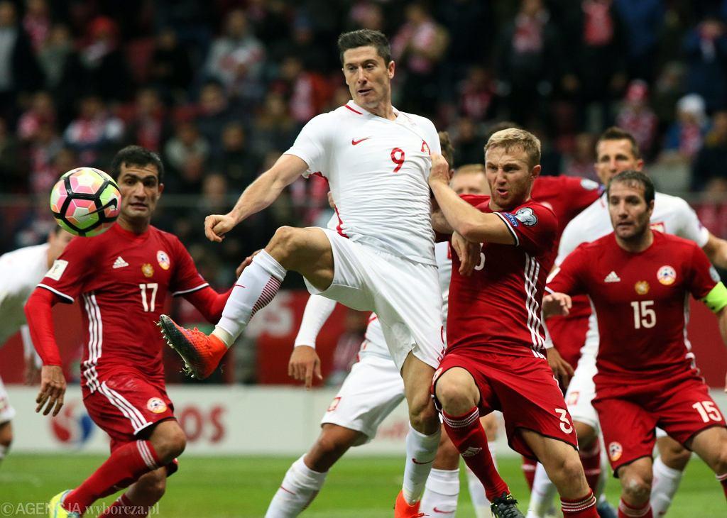 Robert Lewandowski, mecz Polska - Armenia 11 października 2016
