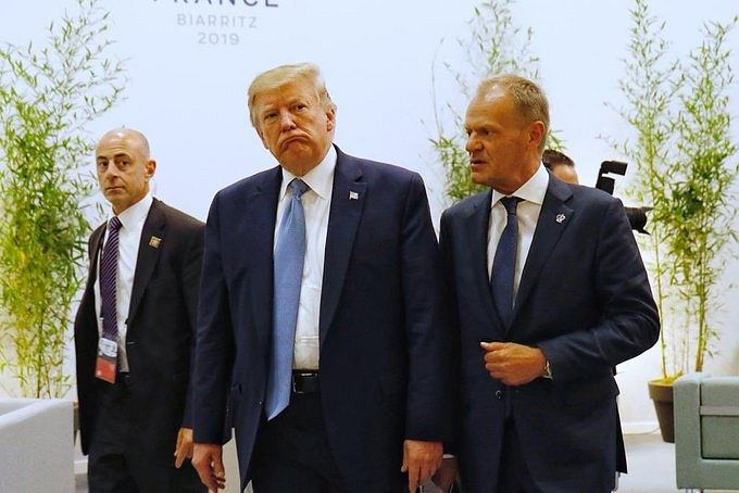 Szczyt G7. Spotkanie Donalda Trumpa i Donalda Tuska