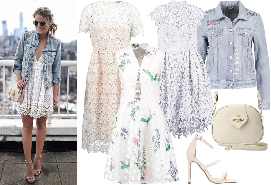 Sukienka letnia koronkowa