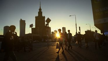 Zachód słońca Warszawa