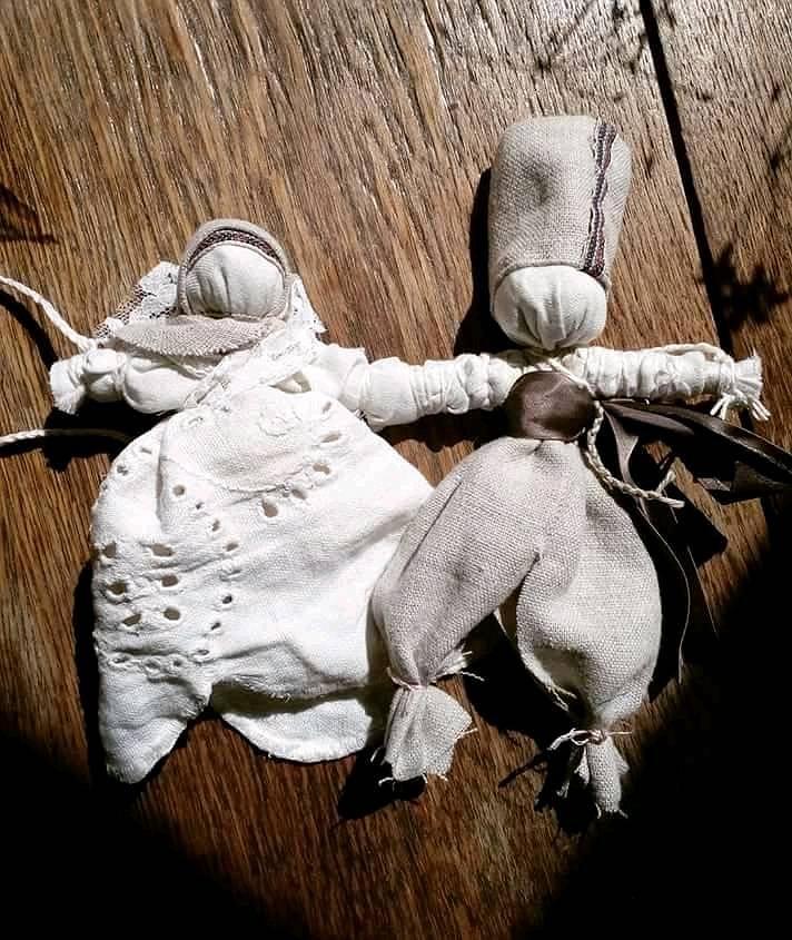 Lalki - nierozłączki zrobione przez Kasia Dorota/Urban Magia