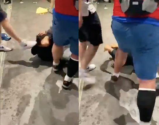 Bójki na Wembley przed finałem Euro 2020. Źródło: Twitter
