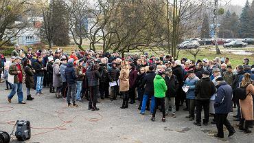 Protest przeciwko budowie osiedla w sąsiedztwie Parku Śląskiego