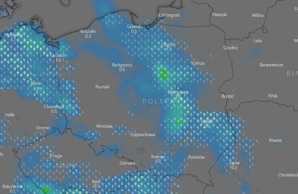 W poniedziałek w wielu regionach zagrzmi