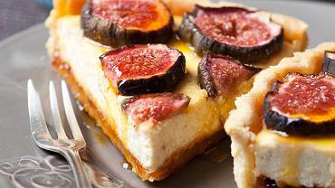 Tarta serowa z figami na ciepło
