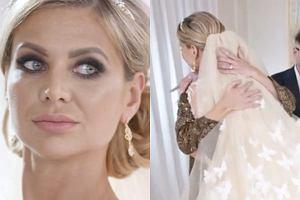 Maja Plich w sukni ślubnej