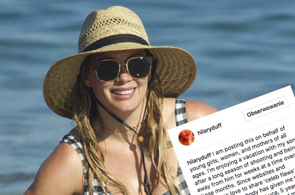 Hilary Duff odpowiada hejterom