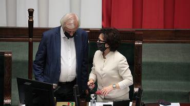 Posiedzenie Sejmu ws. projektu o zmianie ustawy o radiofonii i telewizji, tzw. lex TVN (na zdjęciu Ryszard Terlecki i marszałkini Elżbieta Witek)