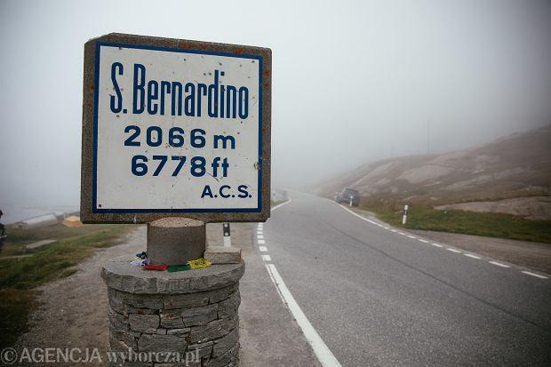 21.09.2020 Szwajcaria . Przelecz San Bernardino / Berhnardinpass .  Fot. Maciek Jazwiecki / Agencja Gazeta