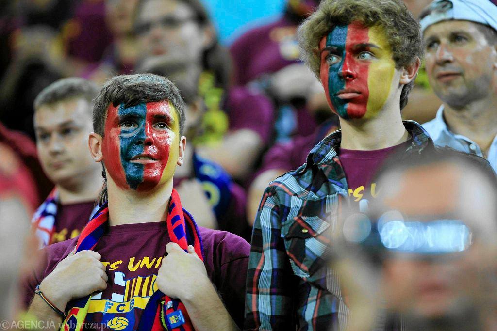 Kibice Barcelony podczas meczu z Lechią Gdańsk na PGE Arenie