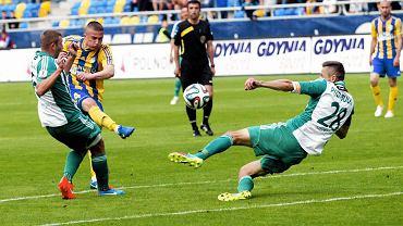 Arka Gdynia - Olimpia Grudziądz 0:2. Strzela Michał Nalepa