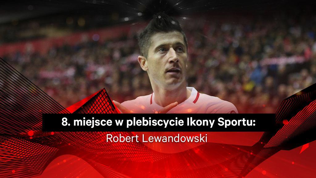 Robert Lewandowski 8. w plebiscycie Ikony Sportu