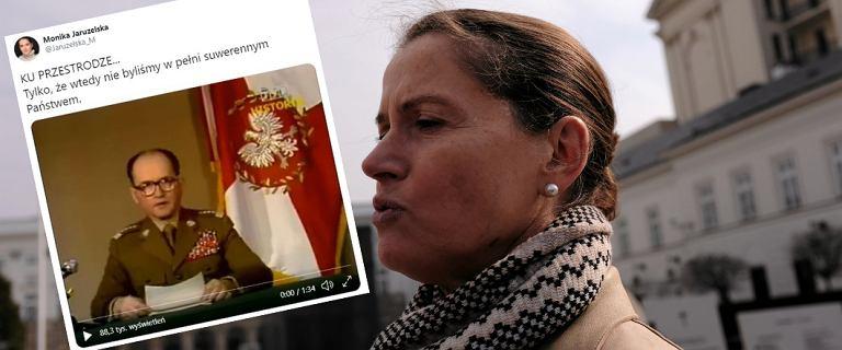 Jaruzelska zareagowała na wystąpienie Kaczyńskiego. Zamieściła wideo z ojcem