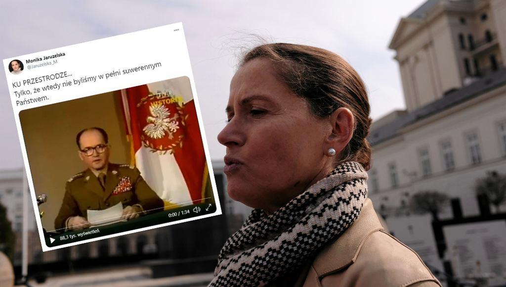 Monika Jaruzelska odpowiada na oświadczenie Jarosława Kaczyńskiego