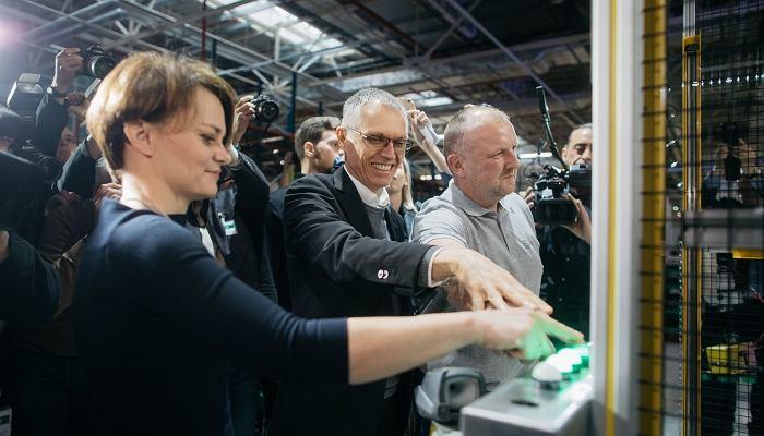 Otwarcie fabryki Opla w Tychach