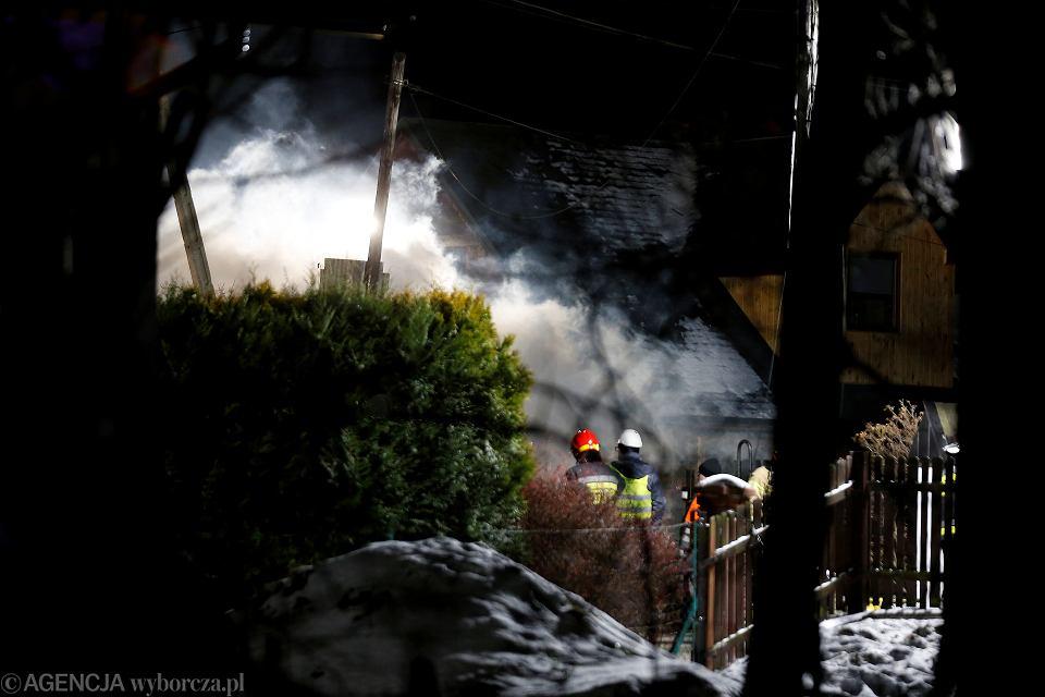 4.12.2019, Szczyrk, akcja ratunkowa po wybuchu gazu.