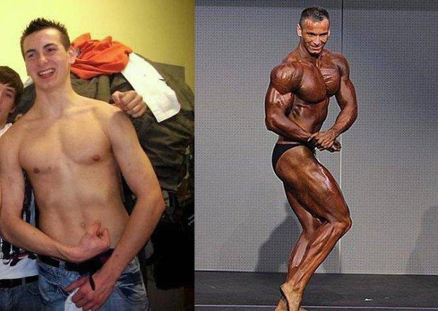 Z chudzielca 125-kilogramy olbrzym, po czterech latach treningów [WIDEO]