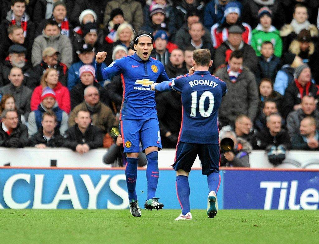 Radamel Falcao i Wayne Rooney