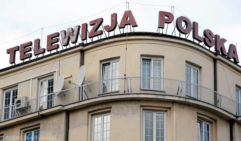 Budynek Telewizji Polskiej SA przy Pl. Powstańców w Warszawie.