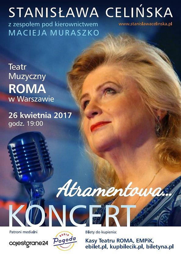 Stanisława Celińska z koncertem 'Atramentowa' już 26 kwietnia 2017r. w Teatrze Muzycznym Roma / mat.pras.