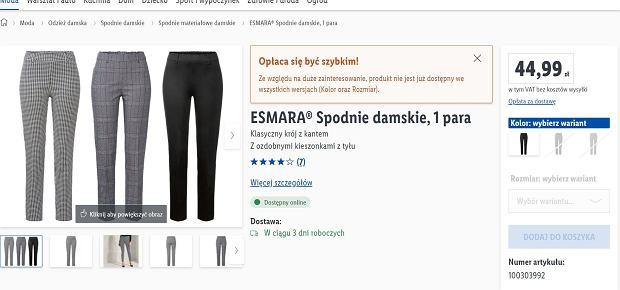 Lidl sprzedaje hitowe spodnie za mniej niż 50 zł. To hit! Podobne kupicie w sieciówkach za dużo więcej
