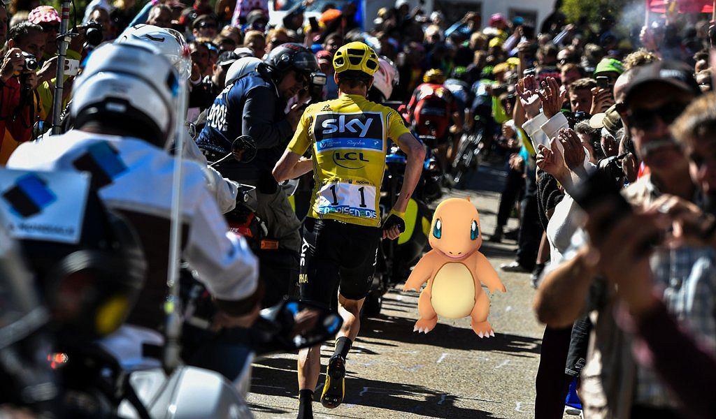 Chris Froome gra w Pokemon Go