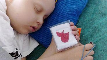 Chory na białaczkę Wojtek, pacjent wrocławskiej kliniki Przylądek Nadziei