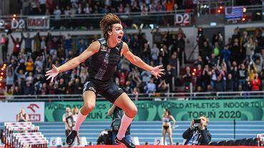 Mityng Copernicus Cup 2020 w Arenie Toruń -  Armand Duplantis pobił rekord świata w skoku o tyczce