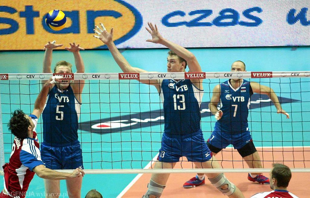 Mecz Rosja - Czechy w Hali