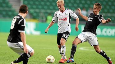 Daniel Łukasik w meczu Legii z Rosenborgiem