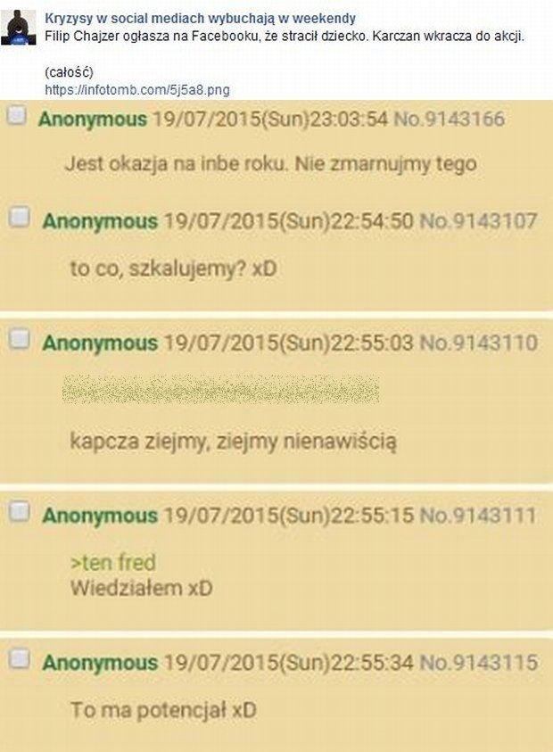 Komentarze na stronie Karachan.org
