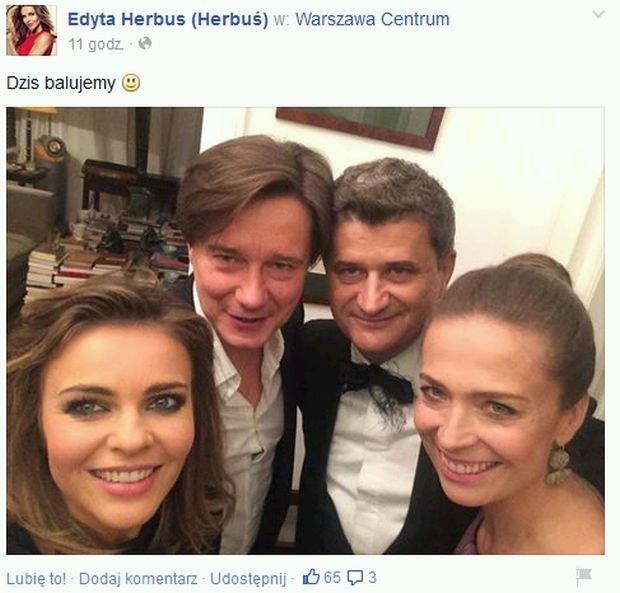 Edyta Herbuś, Mariusz Treliński, Janusz Palikot i jego żona Monika Kubat