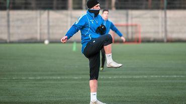 Martin Fenin na treningu Zawiszy
