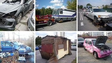 Usunięte wraki aut z warszawskich ulic