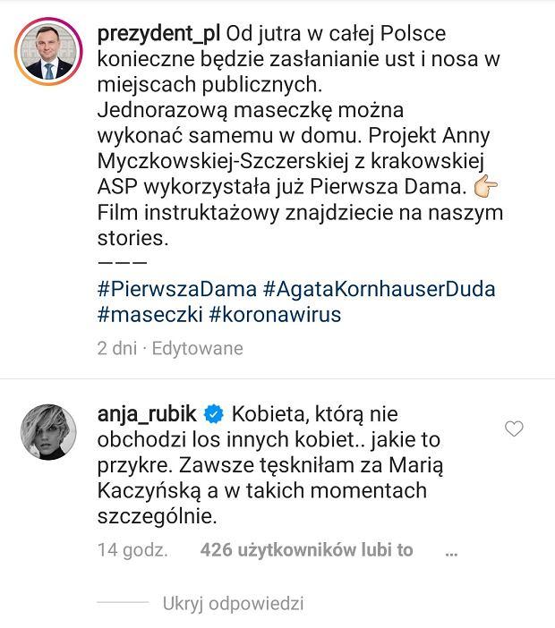 Komentarz Anji Rubik