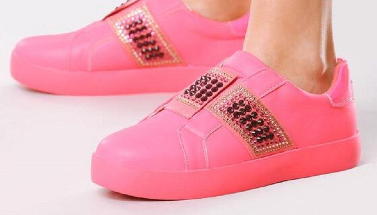 Sneakersy w kolorze różowym