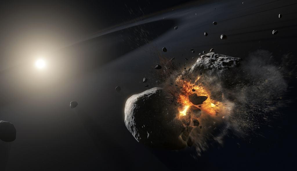 Kosmiczna kolizja w systemie planetarnym Fomalhaut