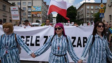 Międzynarodowy protest przeciwko przymusowi szczepień, Warszawa 02.06.2019.