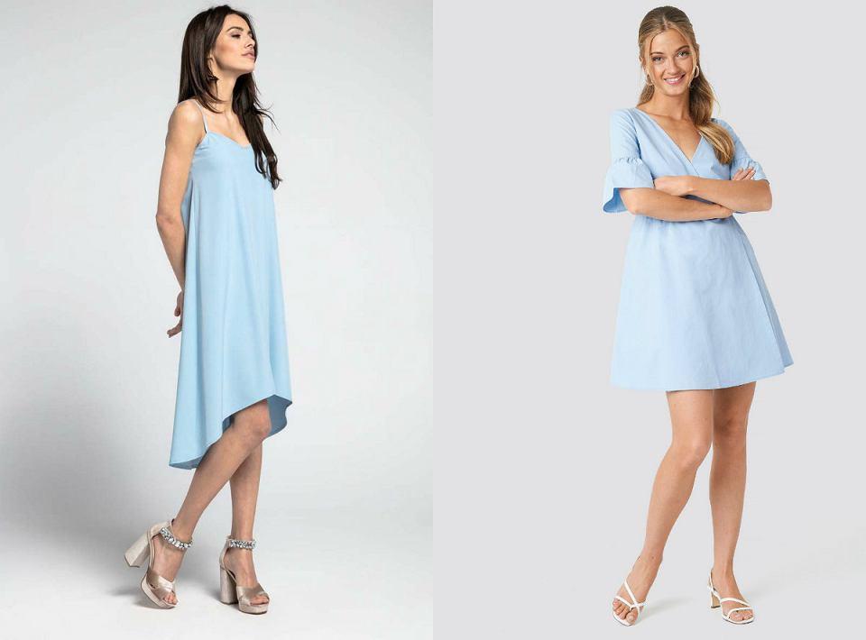 Błękitna sukienka idealnie sprawdzi się na przyjęcia i wesela