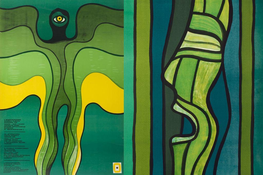 Polskie plakaty Jana Lenicy: 6 Międzynarodowe Biennale Plakatu 1976 oraz Tannhauser 1974.