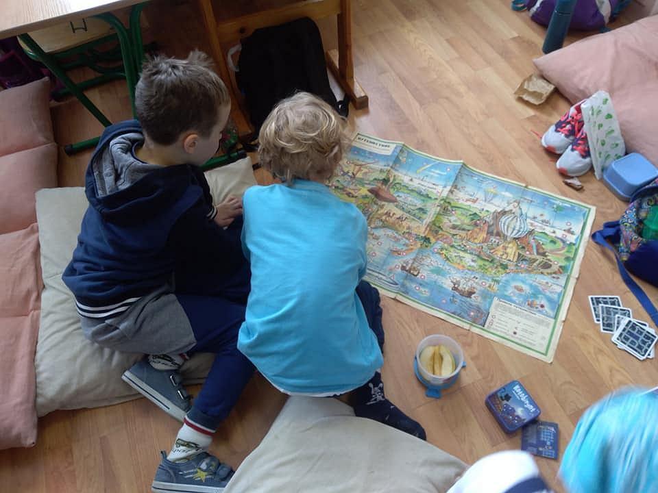 Uczeniowie szkoły podstawowej 'Istota' w Wieliczce